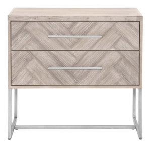 Mosaic Nightstand in Natural Gray