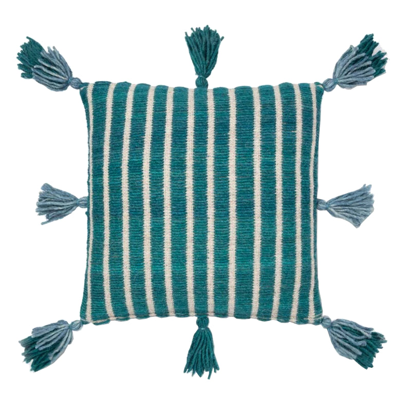 Boho Teal Pillow