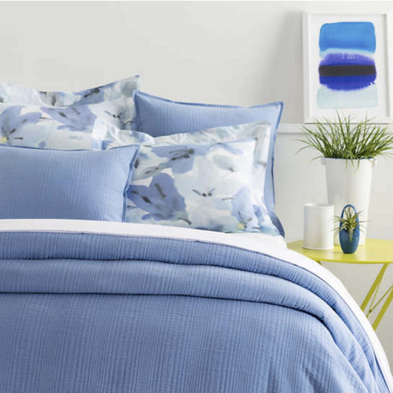 Kelly French Blue Matelasse Coverlet