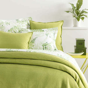 Kelly Green Matelasse Coverlet