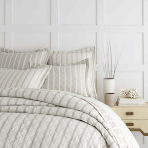 Wainscott Natural Reversible Matelasse Coverlet