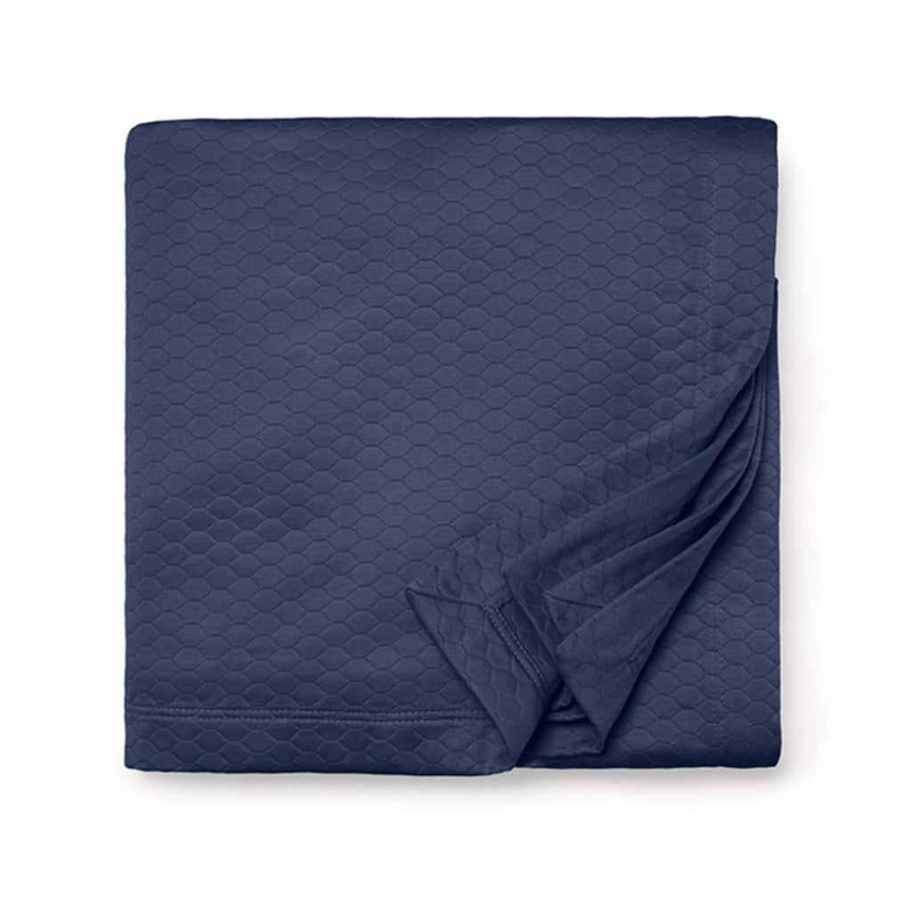 Favo Coverlet in Navy