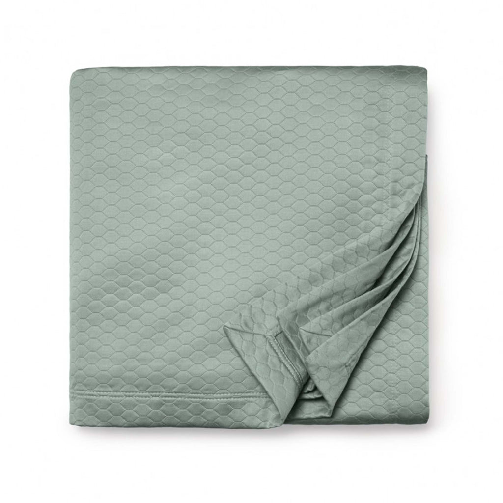 Favo Coverlet in Seagreen