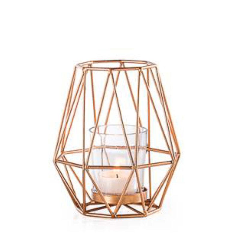 Diamond Deco Metal Tealight Holder in Gold