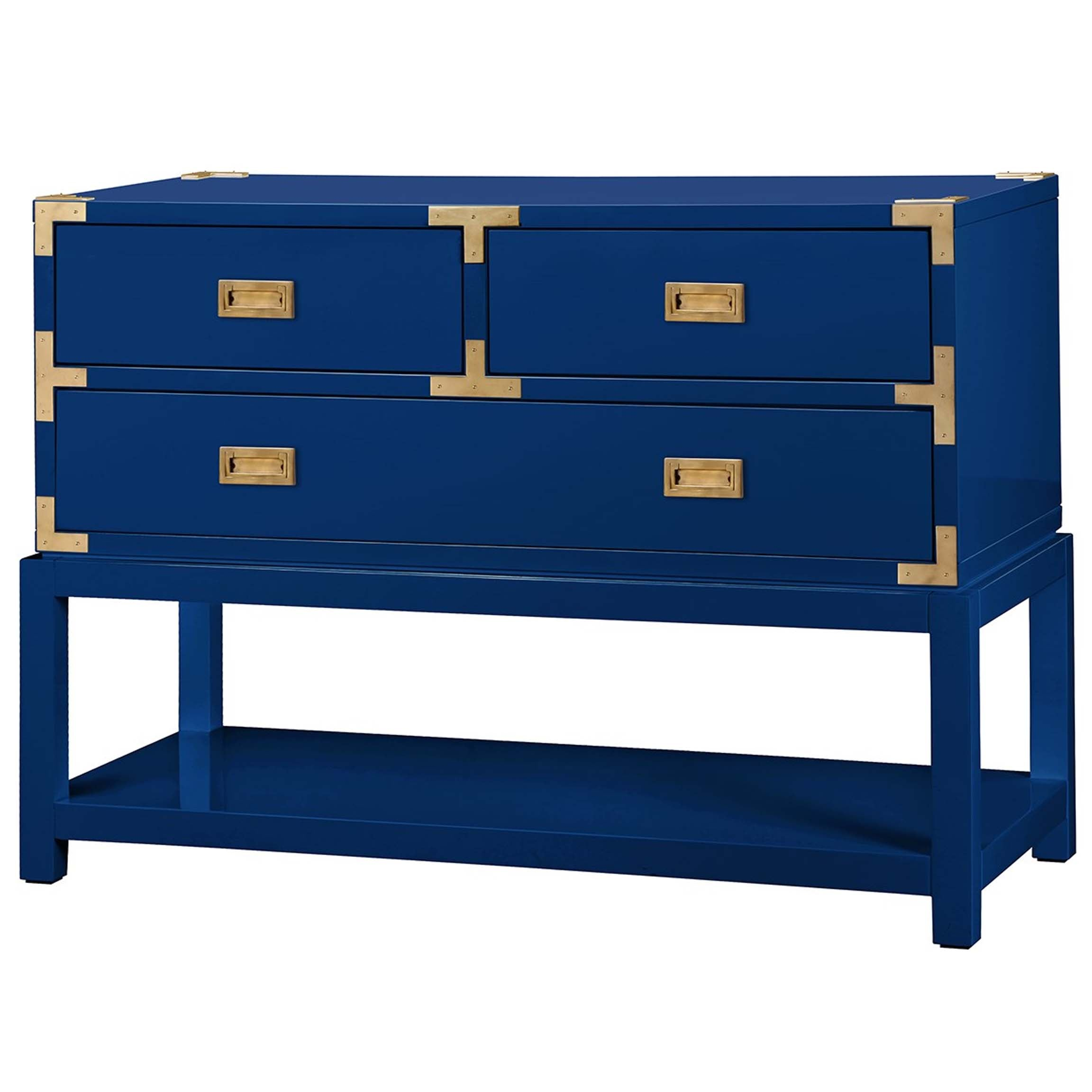 Tansu Console Table in Navy Blue