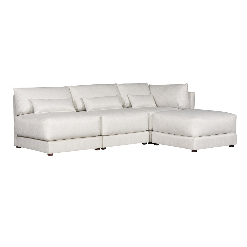 Dove Sectional in Callaloo Cotton