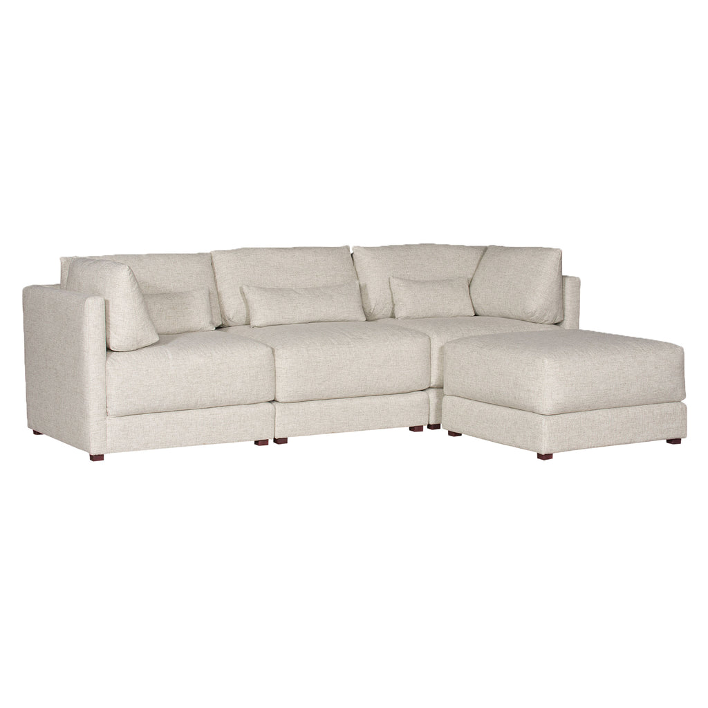 Dove Sectional in Jack Linen