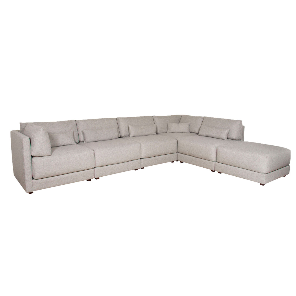 Dove Sectional in Keland Pewter