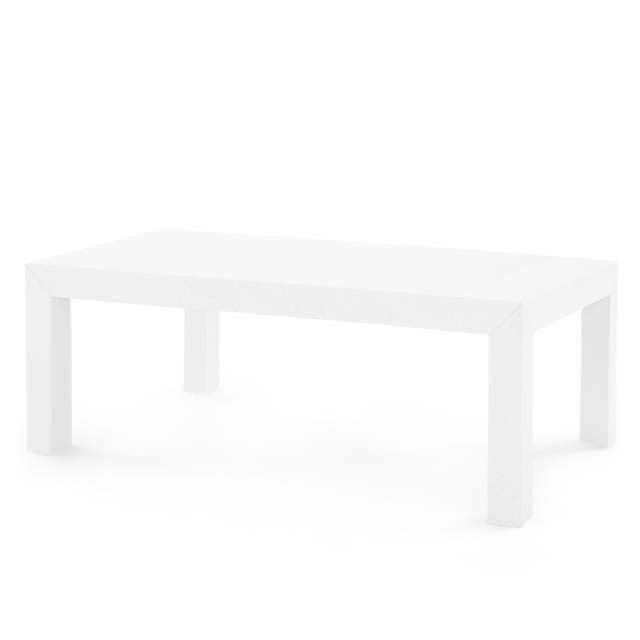Parsons Coffee Table in White