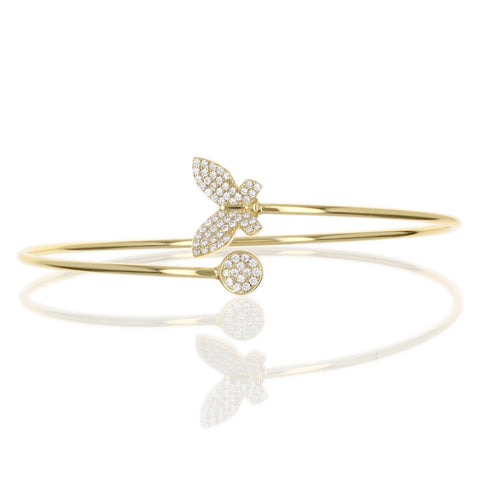 PAVE BUTTERFLY & DISC BANGLE