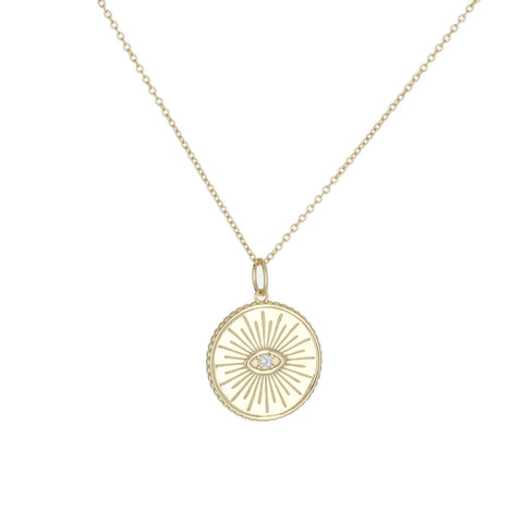 EYE MEDALLION NECKLACE