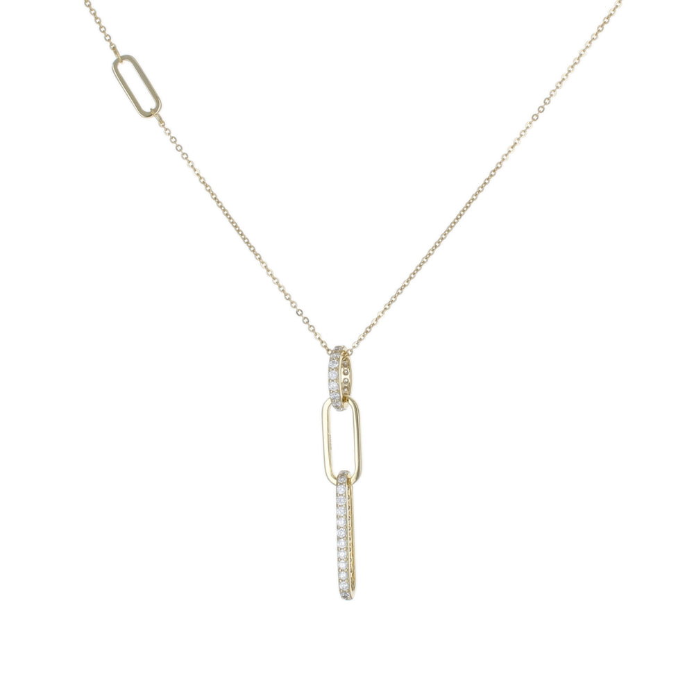 CZ LINKS DROP DAINTY NECKLACE