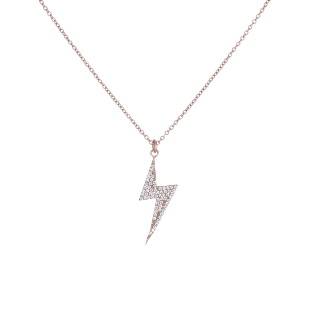 DANGLING PAVE LIGHTNING BOLT NECKLACE