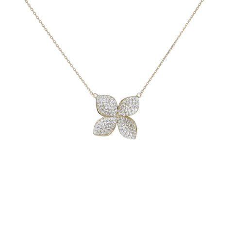 4 PETAL PENDANT NECKLACE