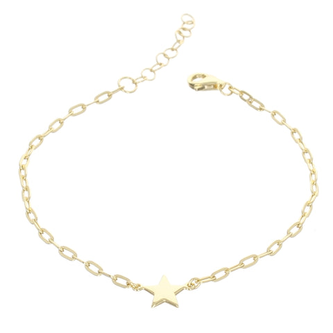 SINGLE STAR CHAIN BRACELET