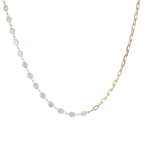 HALF DIAMOND BY THE YARD HALF CHAIN CHOKER