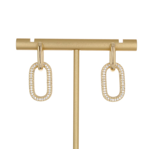PLAIN & PAVE LINK EARRING