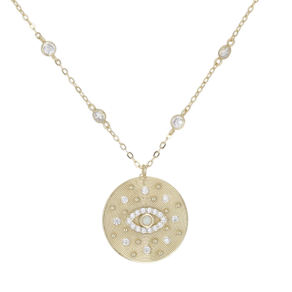 CONSTELLATION EYE MEDALLION NECKLACE