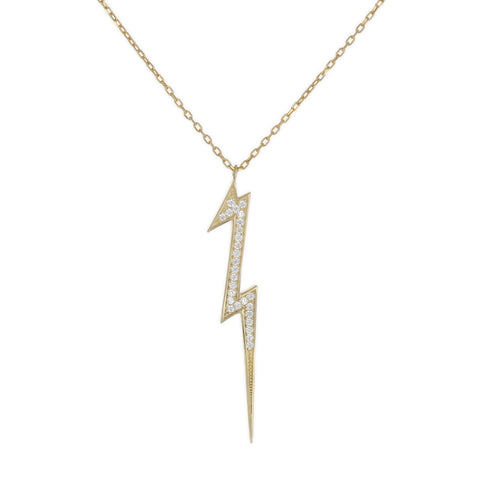 DANGLING LIGHTNING BOLT NECKLACE