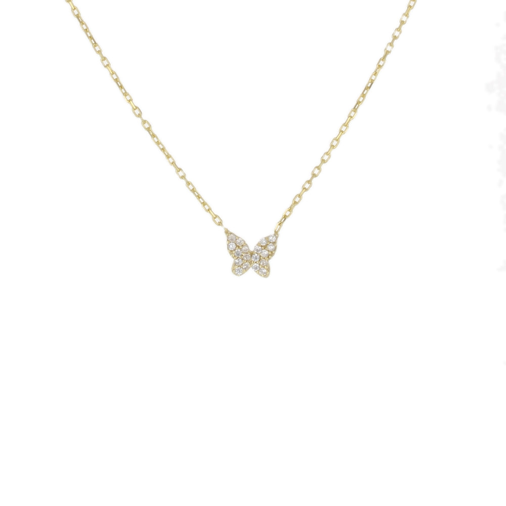 PAVE TINY BUTTERFLY NECKLACE
