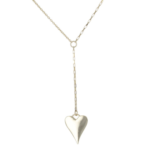 POLISH HEART LARIAT NECKLACE