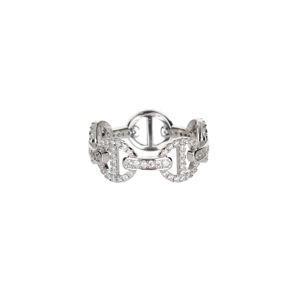 PAVE GUCCI LINK RING