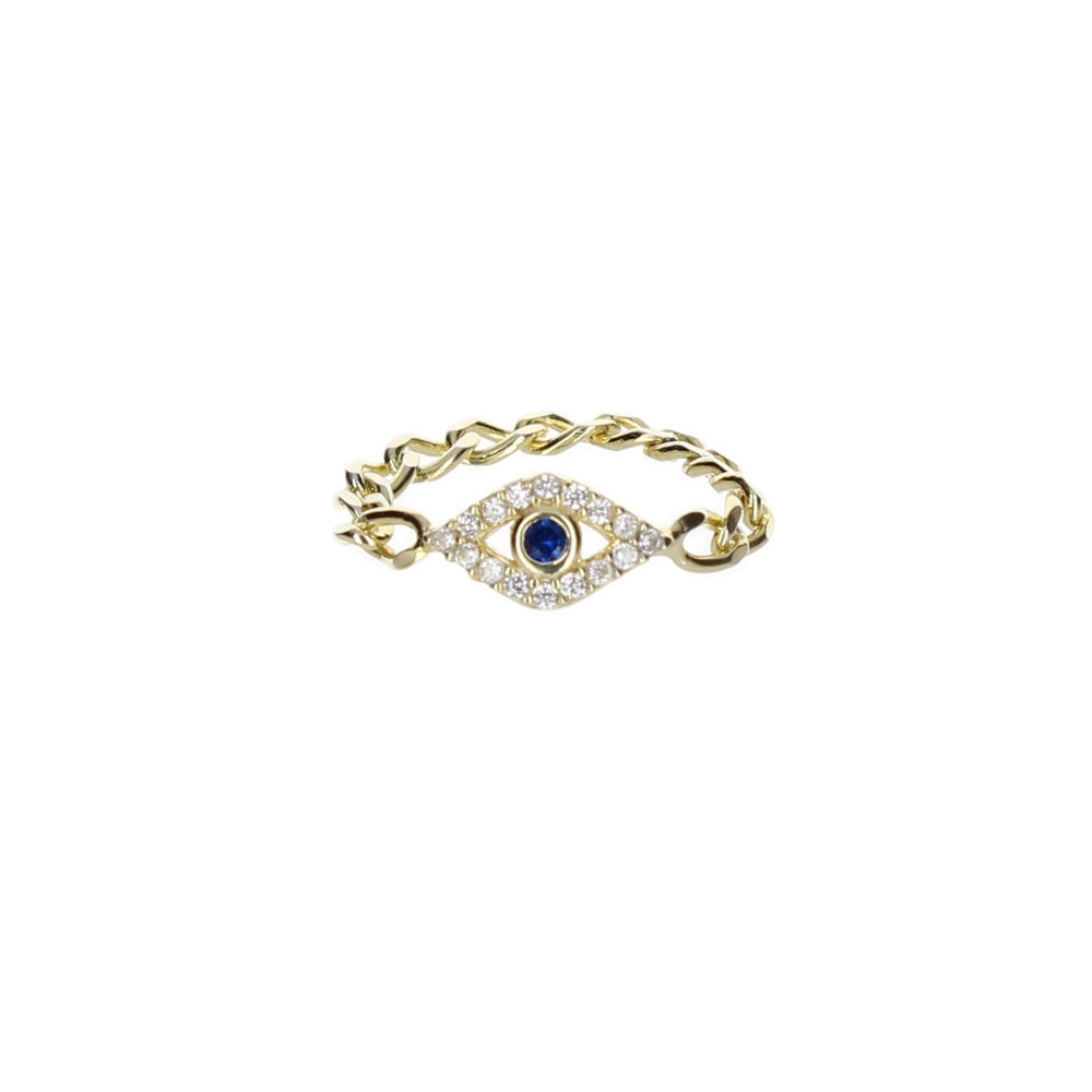 EVIL EYE CHAIN RING