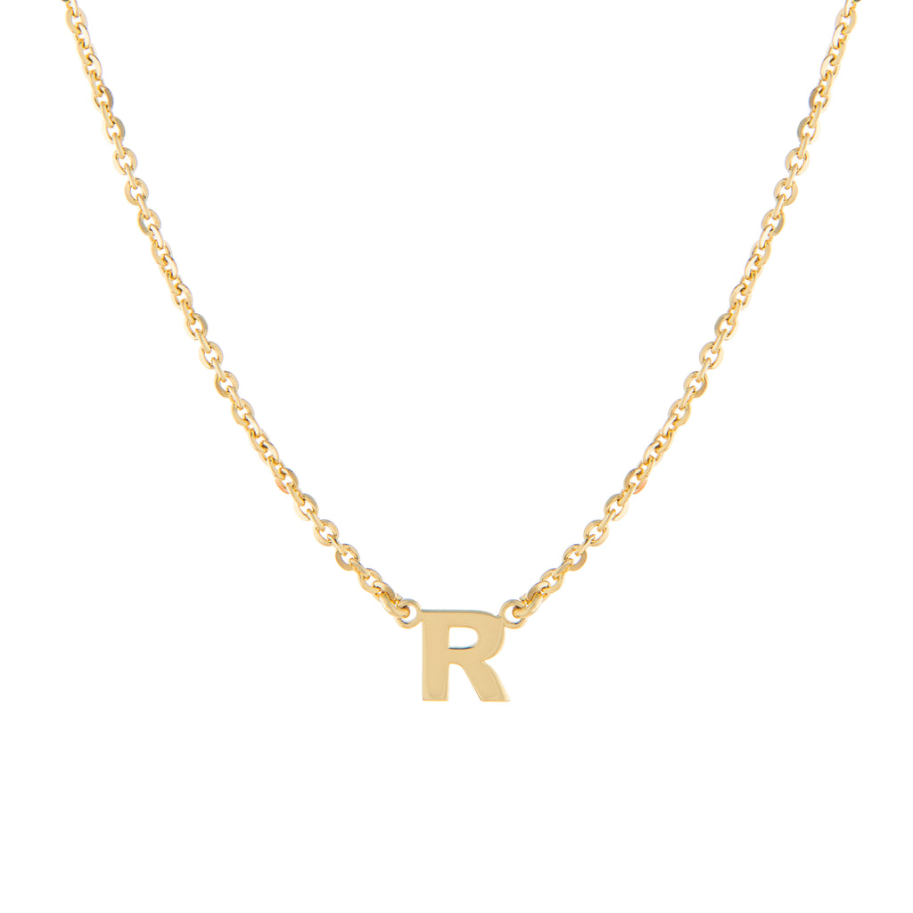 CUSTOM SINGLE BLOCK INITIAL NECKLACE