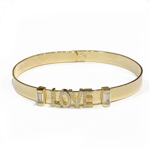 LOVE SLIDER CZ BANGLE
