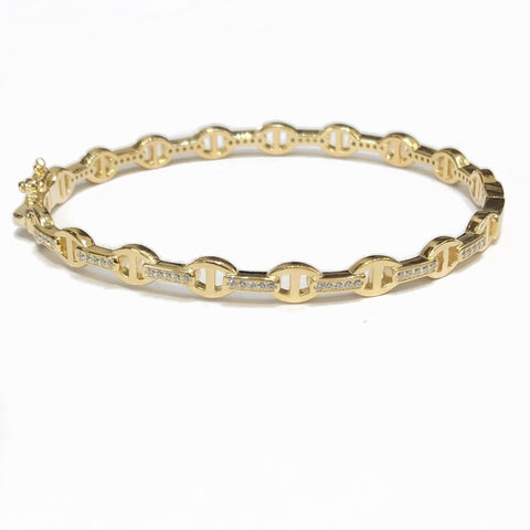 SMALL CHAIN BANGLE BRACELET
