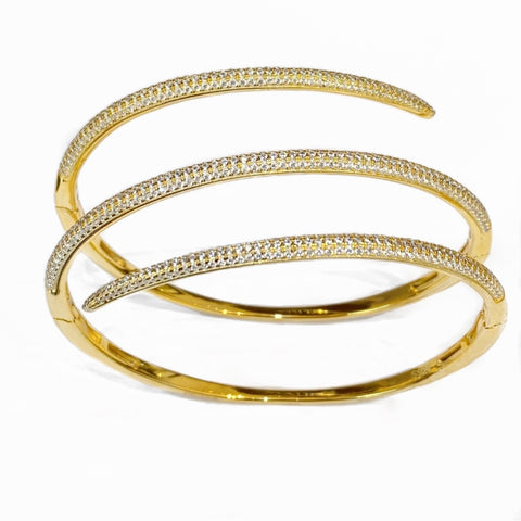 TRIPLE LINE PAVE BANGLE