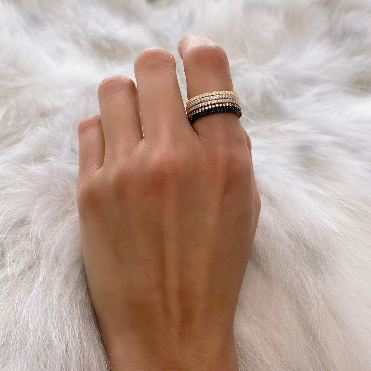 CZ STACKABLE RING