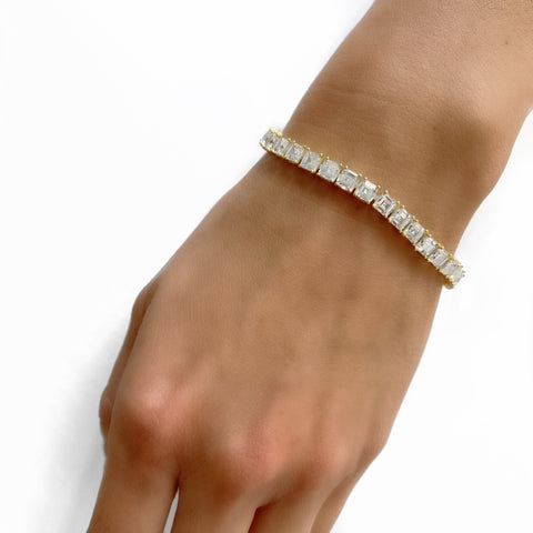"4MM CZ 7"" PRINCESS CUT TENNIS BRACELET"