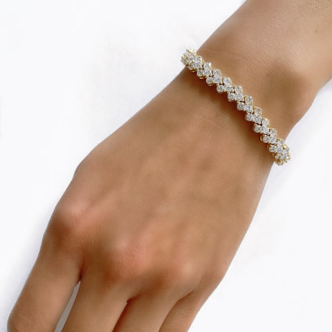 FANCY CZ TENNIS BRACELET