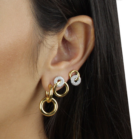 DOUBLE POLISH CIRCLE EARRING