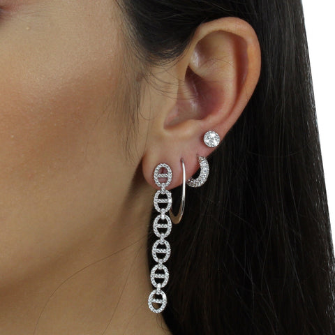 ANCHOR LINK LONG EARRINGS