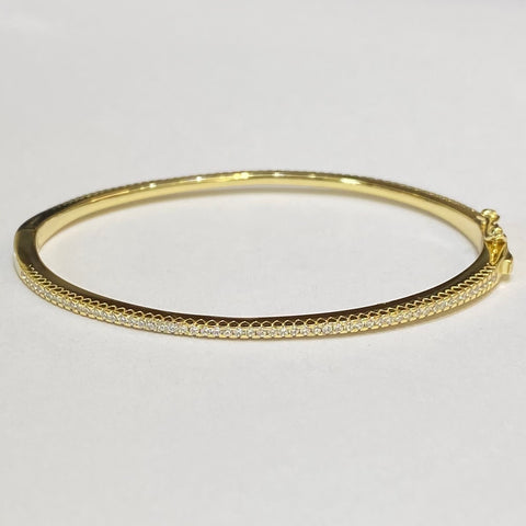 SINGLE CZ ROW OVAL BANGLE