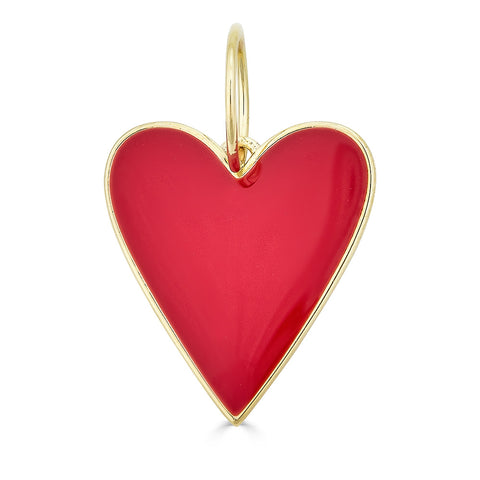 AVA ENAMEL RED HEART CHARM