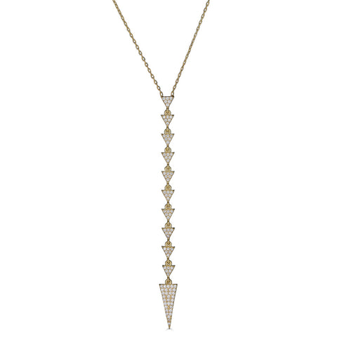 ADRIANA ARROW PAVE LARIAT NECKLACE