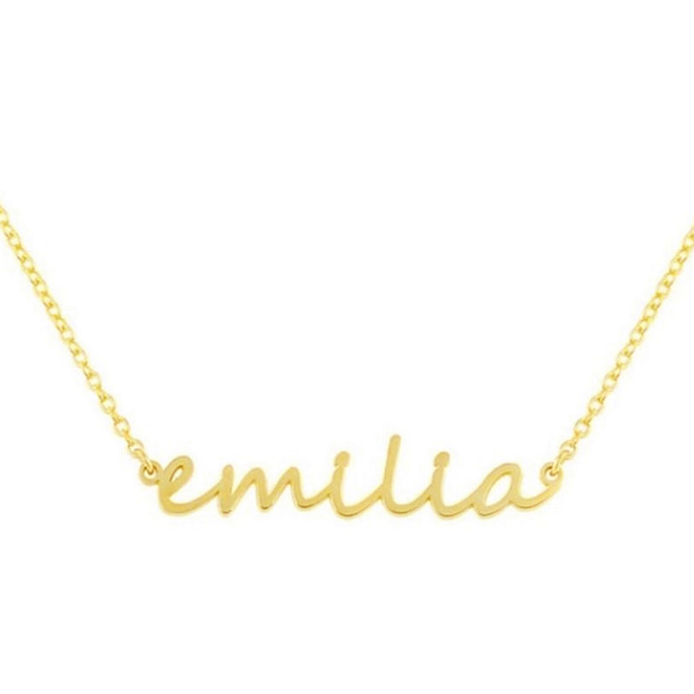 CUSTOM LOWER CASE NAMEPLATE NECKLACE