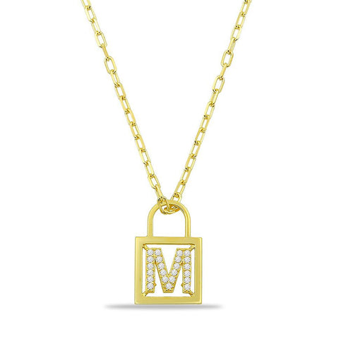 CUSTOM INITIAL LOCK NECKLACE