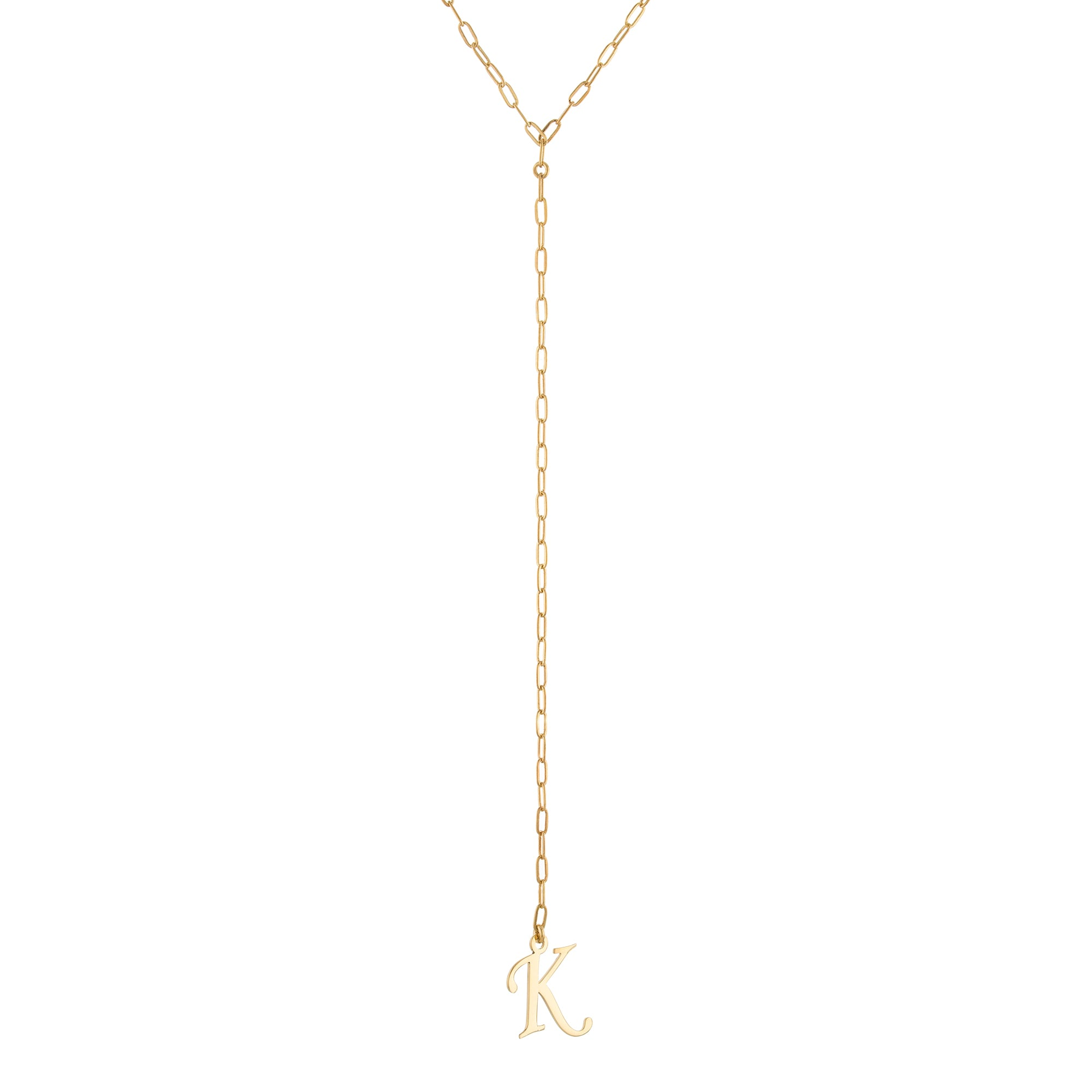 CUSTOM INITIAL LARIAT NECKLACE