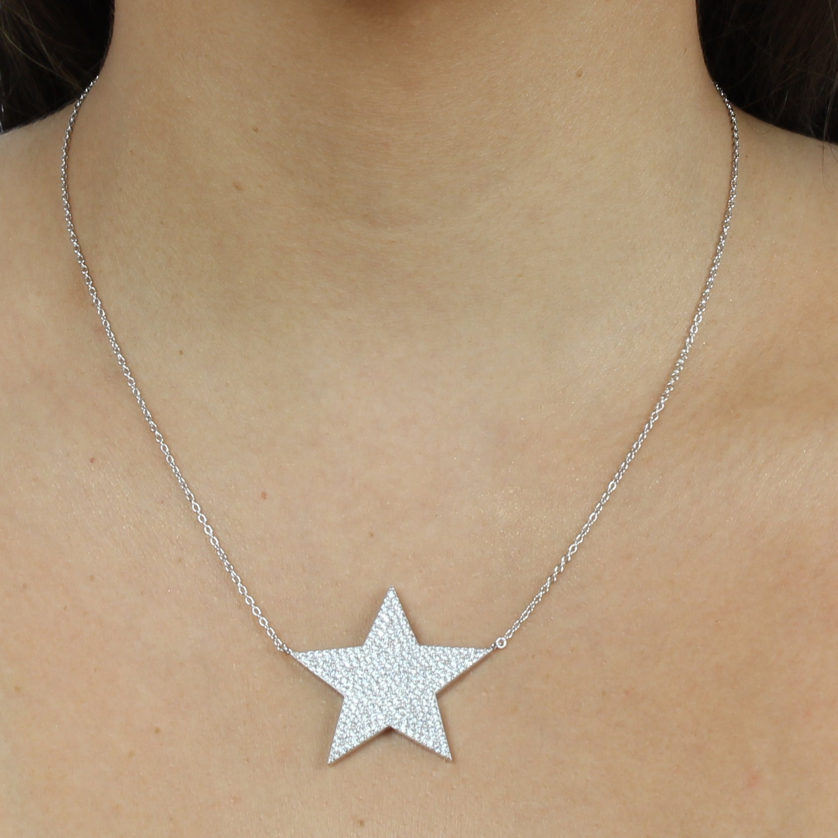 JUMBO PAVE STAR NECKLACE