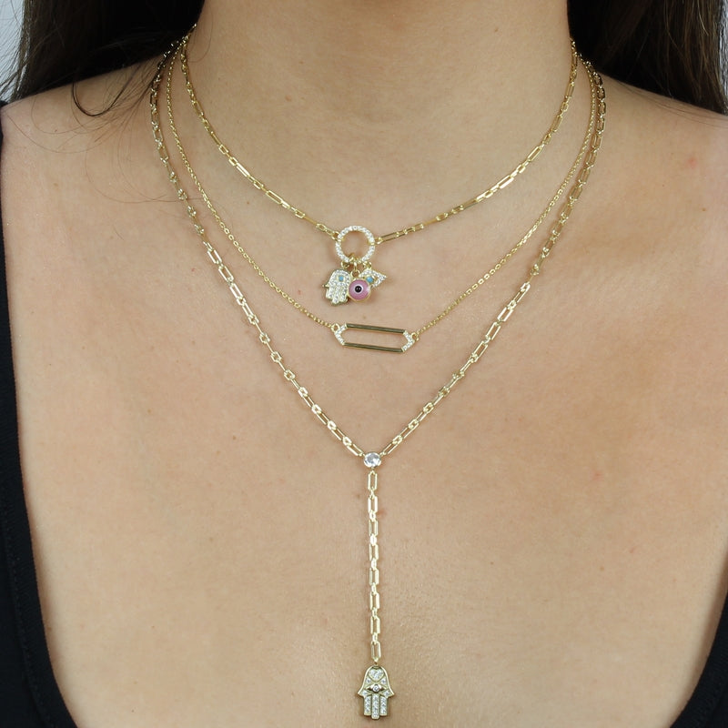 GEOMETRIC OPEN BAR NECKLACE