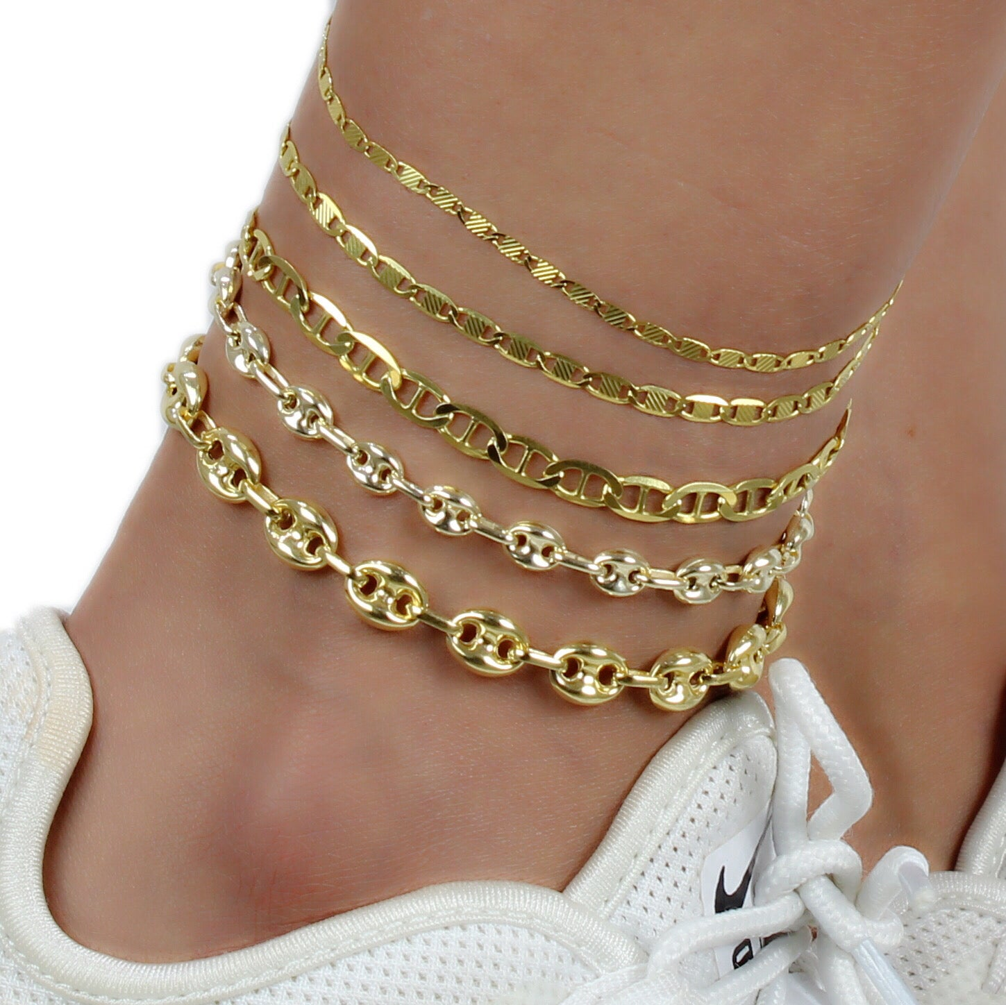 MARINER ANCHOR CHAIN ANKLET