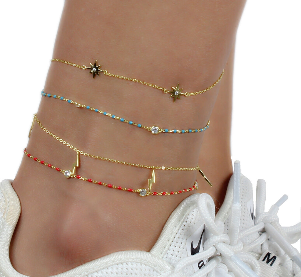 LIGHTNING BOLT ANKLET