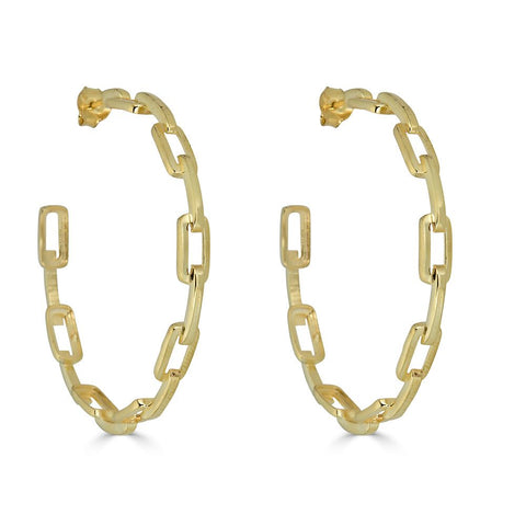 Nicky Chain Hoop Earrings