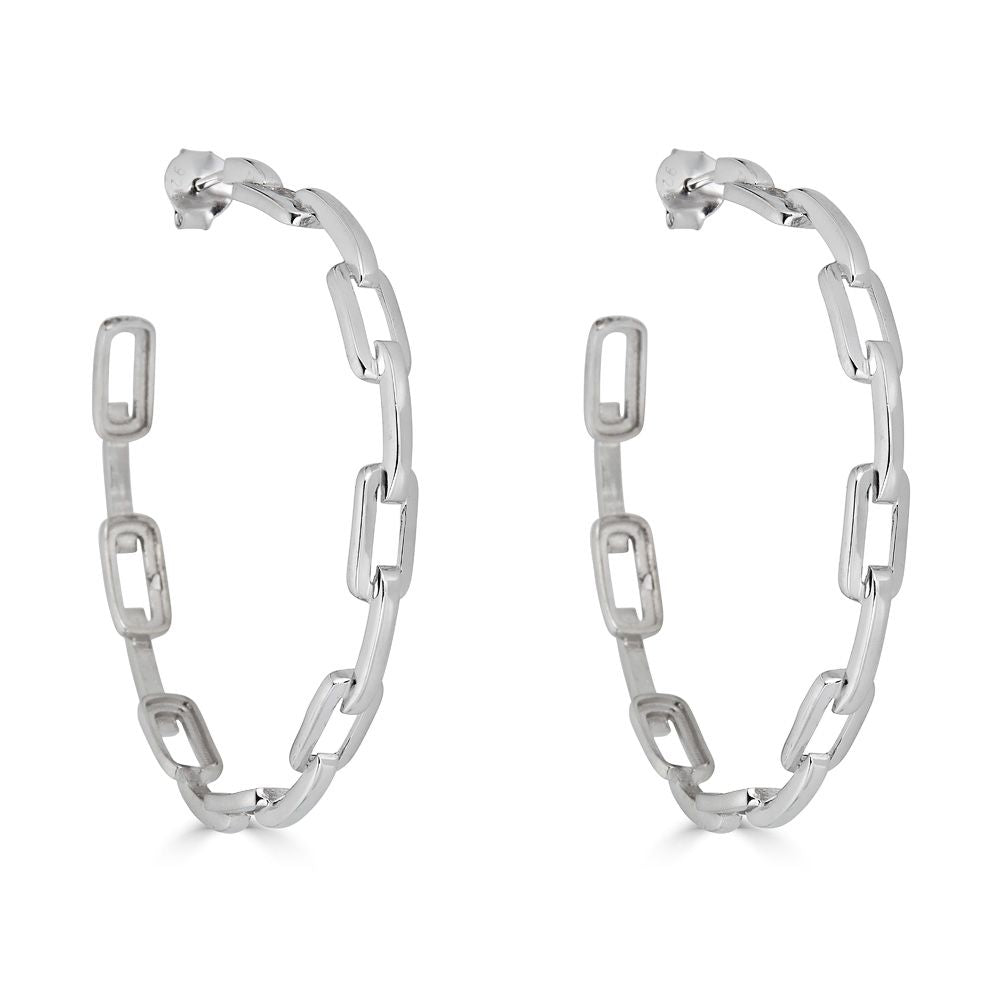 Nicky Chain Hoop Earring