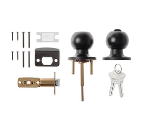 Titan Locks Single Cylinder Deadbolt in Black Nickel