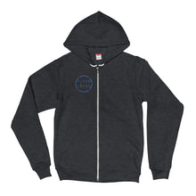 Titan Locks Zip-Up Hoodie Small Blue Design